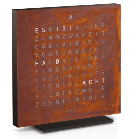 Qlocktwo Touch Creator's Edition Rust in Deutsch